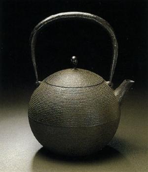 鉄瓶 日の丸形鉄瓶(小瓶)0.4L