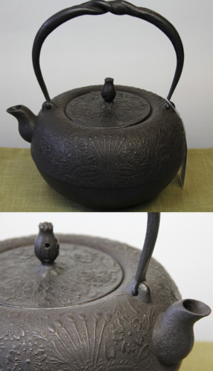 鉄瓶 鉄鉢形桜2.4L