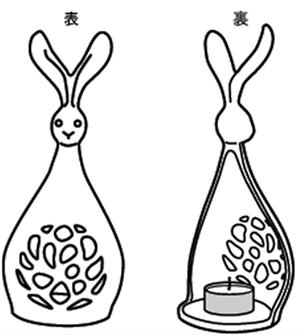 キャンドルスタンドウサギ