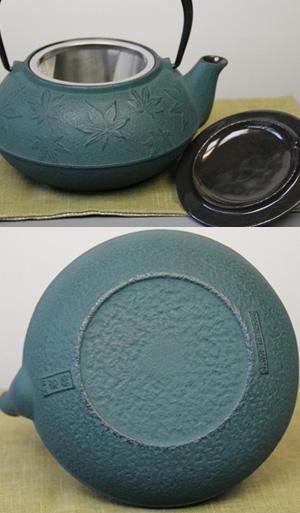 急須 5型カエデ(緑青) 0.65L