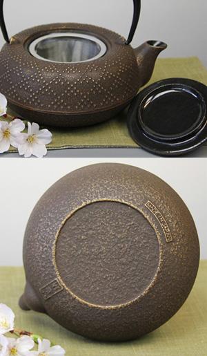 急須 5型格子アラレ(金/こげ茶)0.55L