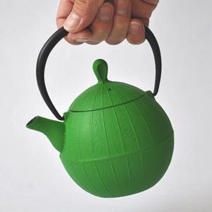 急須 ティーポット胡桃グリーン 0.5L