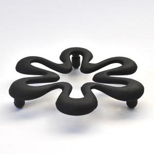 トリベット六花ブラック