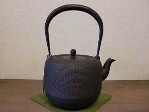 鉄瓶 棗形アラレ(大)1.8L