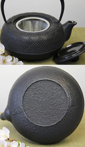 急須 5型格子アラレ(黒)0.55L